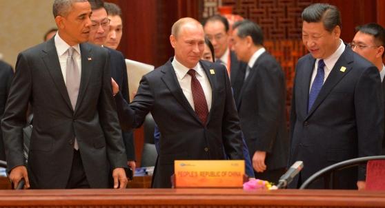 Vladimir Putin, Barack Obama,  Xi Jinping